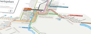 Liniennetzplan Hochgebirgs-Naturpark Zillertaler Alpen/Mayrhofen