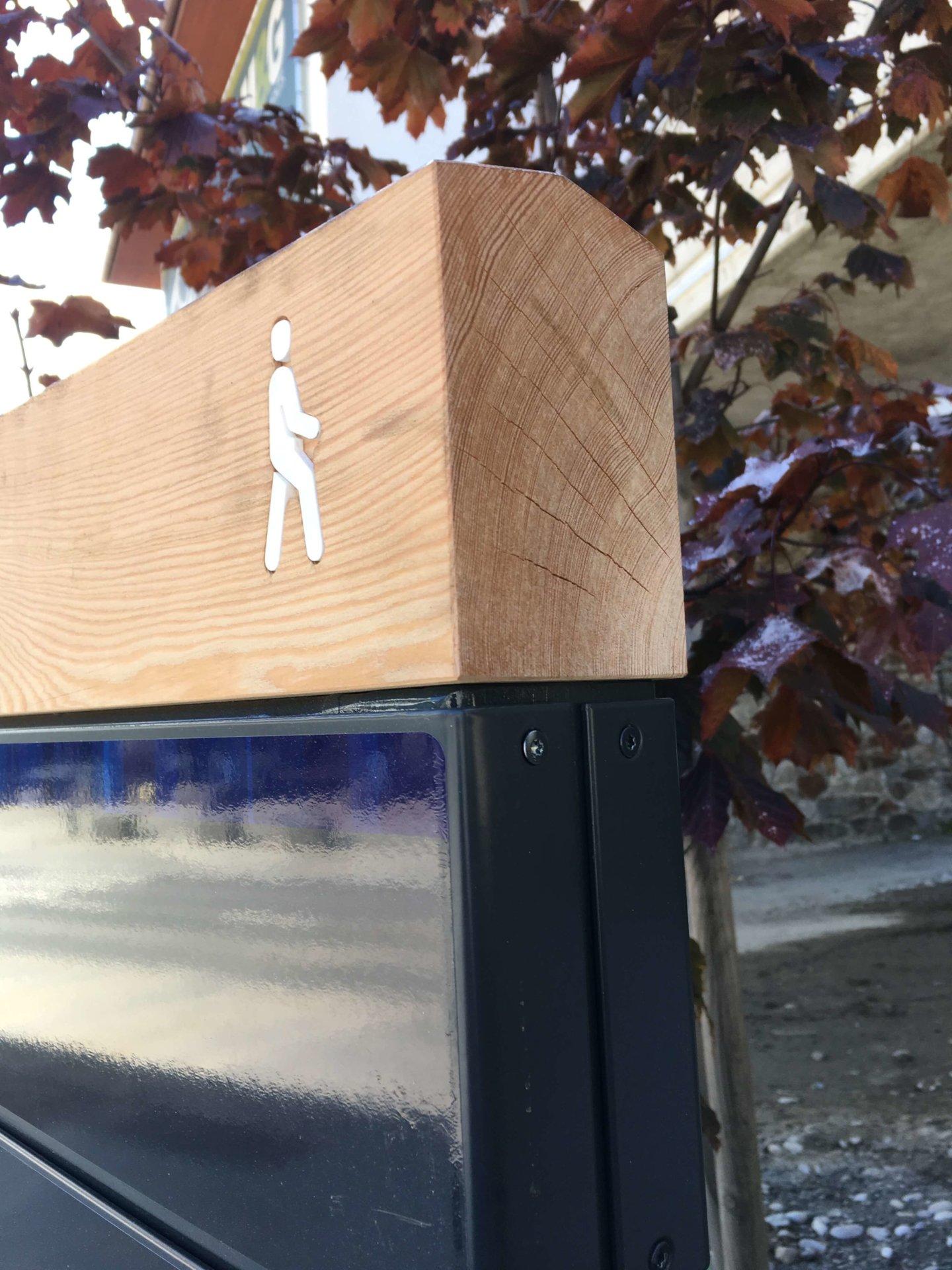Fußgänger-Orientierung Sölden